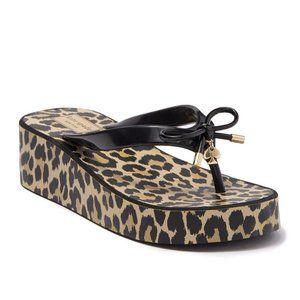 Kate Spade Rhett Platform Leopard Flip Flop Sandal